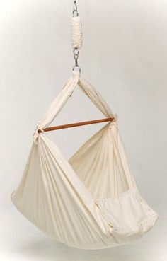 Stylish Sleepers: 15 Simple Chic Bassinets, Cradles, and Baskets - Baby Hammock by Natures Sway
