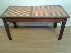 #Craftsman made mahogany #coffee table inlaid with #chess and backgammon boards,  View more on the LINK: 	http://www.zeppy.io/product/gb/2/252281781830/