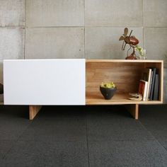 LAXseries Entertainment Shelf & MASHstudios Media Centers | YLiving - for the record player