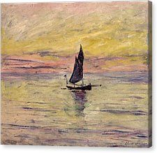 The Sailing Boat, Evening by Claude Monet in oil on canvas, done in Now in The Musée Marmottan. Find a fine art print of this Claude Monet painting. Monet Paintings, Impressionist Paintings, Landscape Paintings, Abstract Paintings, Landscapes, Claude Monet, Monet Poster, Artist Monet, Post Impressionism