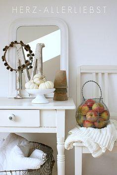 Autumn corner with apples