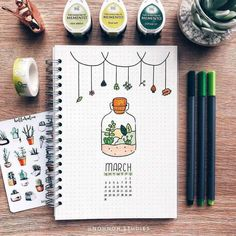 Easy Bullet Journal Ideas To Well Organize & Accelerate Your Ambitious Goals March Bullet Journal, Bullet Journal Notebook, Bullet Journal Ideas Pages, Bullet Journal Spread, Bullet Journal Layout, Bullet Journal Inspiration, Journal Pages, Bullet Journals, Doodle Inspiration