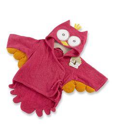 Look at this #zulilyfind! Pink Owl Terry Robe by Baby Aspen #zulilyfinds