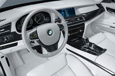 "Billionaires Road Tumblr image of a super clean white BMW interior.   Makes you want to blast Frank Sinatras ""New York"" with the windows down!"