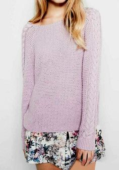 cd478f4ead0 Must-have Lavender Sweater Fashion Beauty