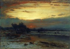 winter, close of day ~ oil ~ c.1866 ~ by george inness