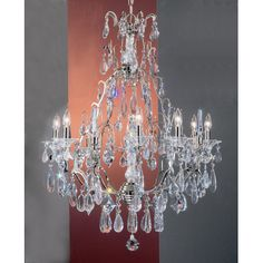 Garden of Versailles 9 Light Crystal chandelier Finish: Antique Bronze with Gold Patina, Crystal Type: Pears Straw - http://chandelierspot.com/garden-of-versailles-9-light-crystal-chandelier-finish-antique-bronze-with-gold-patina-crystal-type-pears-straw-640218588/