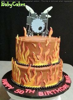 A cake for a drummer on his 50th.