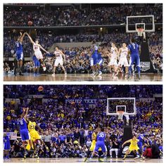 Top: Aaron's shot to the National Championship Bottom: Aaron's shot to the Final Four Image via USA Today Sports