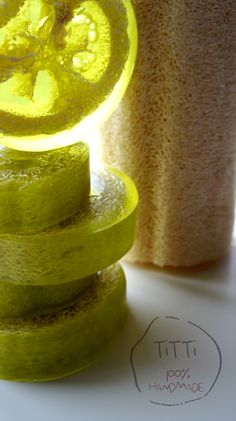 Lime & Loofah soap. Glycerin