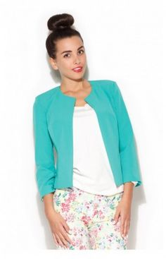 Veste blazer femme bleu turquoise