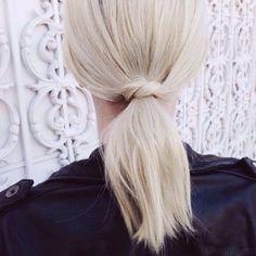 slufoot: PONYTAIL HAIR KNOT