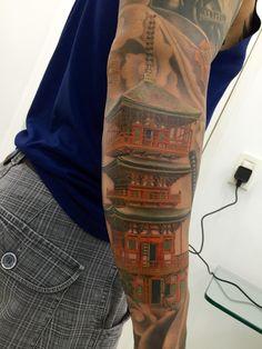 #Gojyu-no-toh #temple #japanese #tattoo #arnaldoradeke #cheyenneHawk