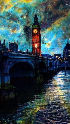 Fanasy Night In London #iPhone #5s #Wallpaper