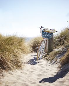 Bike rides by the beach | Limited-Edition PUBLIC® C7 Bike with Riviera Basket via Serena & Lily