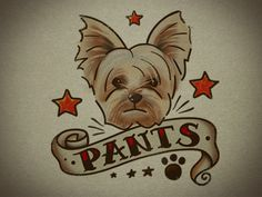 "Andy Pitts    ""a temporary tattoo of my pup Pants to give away at our wedding party! I expect to see lots of Pants neck tats that night!"""