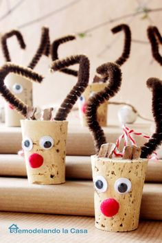 Wine corks make the best reindeers for Christmas ornaments.  Get the tutorial at Remodel and Dolacasa.   - CountryLiving.com