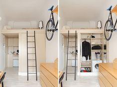 Superieur Lit Mezzanine 2 Places   9 Idées Gain De Place Chambre Adulte