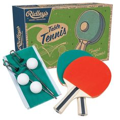 Ridley's Ping Pong Set -- bring on the nostalgia with this retro-inspired ping pong game set! #giftforme #giftforyou
