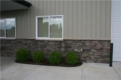 metal siding with stone on pole barn | Dimensions