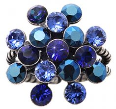 Konplott Ring Magic Fireball Blau/Multi