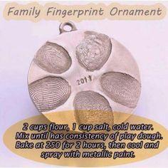 Homemade family fingerprint ornament- 2013 Holiday Family Craft Idea