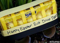Peeps Bus Driver gift + 12 more Peeps gift ideas Bus Driver Appreciation, Volunteer Appreciation, Appreciation Gifts, School Gifts, School Fun, School Buses, School Ideas, Easter Gift, Happy Easter
