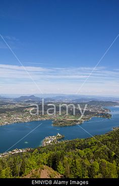 #View From #Observation #Tower @Pyramidenkogel To #Lake #Woerthersee In Spring @Alamy #alamy #ktr15 @carinzia #nature #landscape #austria #carinthia #travel #sightseeing #holidays #season #summer #vacation #outdoor #stock #photo #portfolio #download #hires #royaltyfree