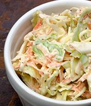 Creamy sesame coleslaw made Japanese-style, sure to be a BBQ pleaser.