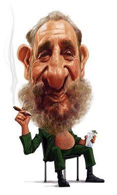 Fidel Castro, an illustration of Ramachandra Babu