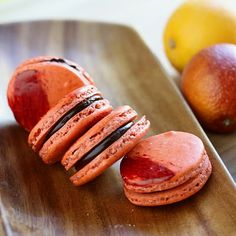 Blood Orange Macarons - includes easy to follow pics for non-bakers. These really are worth the effort. @Sharon Oh Really