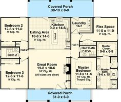 Plan French Country House Plan with 3 Beds and a Flex Room - Daisy's Beautiful World Metal House Plans, Pole Barn House Plans, Garage House Plans, Pole Barn Homes, New House Plans, Dream House Plans, House Floor Plans, Rectangle House Plans, 3 Bedroom Home Floor Plans