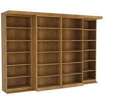 The Abbott Library Murphy Bed in Oak - Walnut Finish