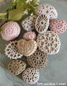 Crochet Covered Stones - free pattern on our site