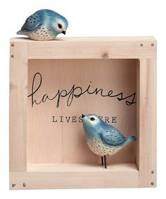 Look at this #zulilyfind! 'Happiness' Shadow Box by Transpac Imports #zulilyfinds