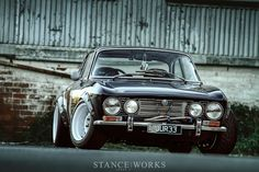 alfa-romeo-gtv-wide-arches-steelies.... I dont aprove the Nissan engine but car is still great