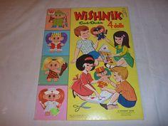 Vintage 1965 Wishnik Paper Doll Cut Outs Original and UNCUT