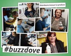 Distribuire brosuri si produse Dove in campania #buzzdove organizata de @TheBUZZStore