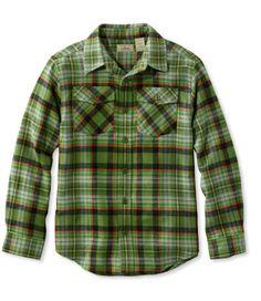Boys' Bean's Flannel Shirt, Plaid
