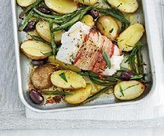 Low FODMAP Recipe - Pancetta-wrapped fish with lemony potatoes