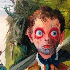 """Jose Luis Carranza •""""Las Profecías del Agua"""", Óleo sobre lienzo, 80 x 100cm"""