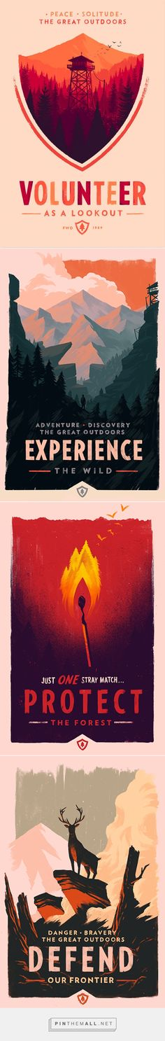 Firewatch — Olly Moss... - a grouped images picture - Pin Them All