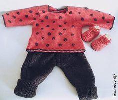 Ensemble bébé 3 mois tricoté main : pantalon  brassière et