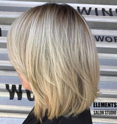70 Brightest Medium Layered Haircuts to Light You Up Blonde Layered Bob With Stretched Roots Ash Blonde Bob, Blonde Layers, Blonde Hair, Blonde Roots, Medium Layered Haircuts, Layered Bob Hairstyles, Short Haircuts, Braided Hairstyles, Medium Hair Styles