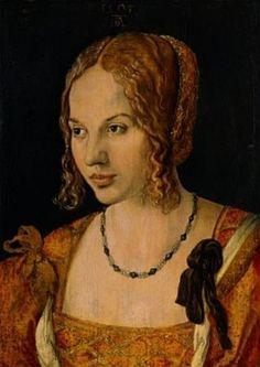 Albrecht Dürer, Portrait of a young Venetian Woman, 1505, oil on wood, 32,5 x 24,5 cm. Kunsthistorisches Museum, Vienna