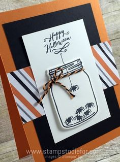 Sunday Sketches Stampin Up Jar of Haunts Stamp Set, Holiday Catalog, Halloween Card 2 halloweenjars Fall Cards, Winter Cards, Holiday Cards, Soirée Halloween, Halloween Cards, Family Halloween, Bee Cards, Card Sketches, Creative Cards