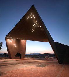 "Main Entrance Gate of ""Tierra Cálida"" by Clavel Arquitectos | Inspiration Grid | Design Inspiration"