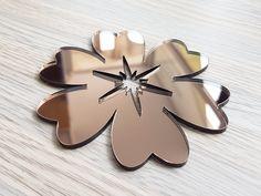 Sticker oglinda floare bronz Cookie Cutters, Stickers, Decals