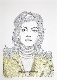 Thread & Nail Portrait by Pamela Campagna