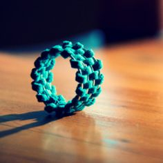 Leather ring.  DIY